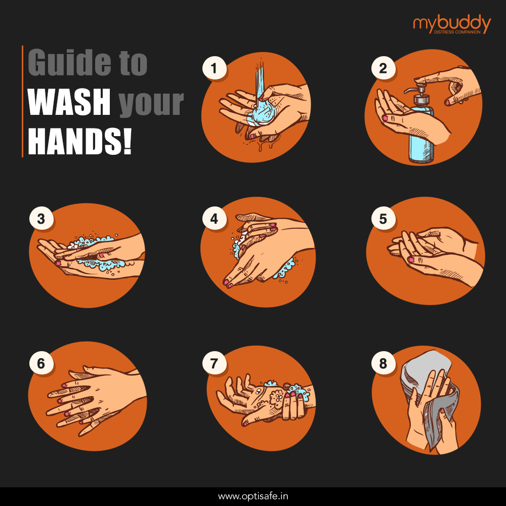 Guide to wash your hands to avoid 		coronavirus pandemic